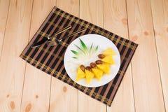 Nya ananas och data Royaltyfria Bilder