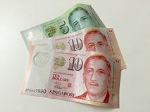 Nya anmärkningar för Singapore dollar Royaltyfria Foton