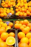 Nya apelsiner i supermarket royaltyfri bild