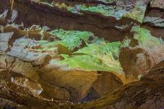 Nya Athos Cave, Abchazien, Georgia Arkivfoton