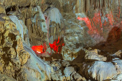 Nya Athos Cave, Abchazien, Georgia Arkivbild