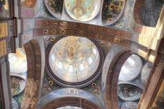 Nya Athos Monastery Tak av templet Royaltyfri Bild
