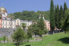 Nya Athos Simonen trosivrarekloster, Abchazien Royaltyfria Bilder