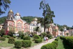 Nya Athos Simonen trosivrarekloster i Abchazien Arkivbilder