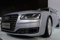 Nya Audi A8L, 2014 CDMS Arkivbild