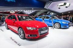 Nya Audi A4 på IAAEN 2015 Arkivfoton