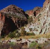 Nya Autumn In Bandelier National Monument - - Mexiko Royaltyfria Foton