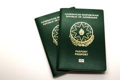 Nya Azerbajdzjan pass med mikrochipens royaltyfria foton