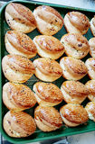 Nya bagerier i en restaurang Royaltyfri Fotografi