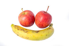 Nya banan och äpplen Arkivbild