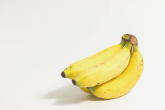 Nya bananer på vit bakgrund royaltyfri bild