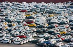 nya bilar Fotografering för Bildbyråer