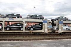 Nya bilar Arkivfoto