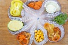 nya bläckfiskgrönsaker Royaltyfri Foto