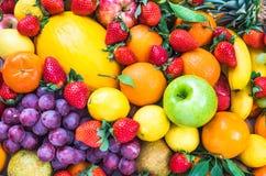 Nya blandade frukter Royaltyfri Fotografi