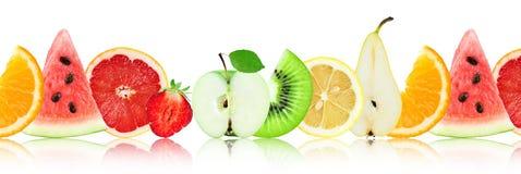 Nya blandade frukter Skivor arkivbild