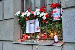Nya blommor för offren av terroristattacken på 3 April Royaltyfria Foton