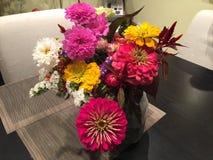 Nya blommor i vas från hacka-din-lantgård Royaltyfria Foton