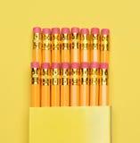 Nya blyertspennor i ask Royaltyfri Fotografi