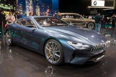 Nya BMW 2018 bil för 8 serie Royaltyfria Bilder