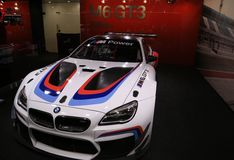 Nya BMW 2018 M6 GT på skärm på norden - amerikansk internationell auto show Royaltyfria Bilder