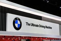 Nya BMW medel 2018 på skärm på norden - amerikansk internationell auto show Arkivfoto