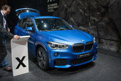 Nya BMW X1 - världspremiär Arkivfoton