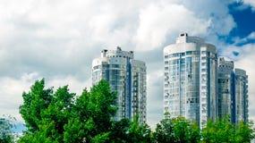 Nya bostads- byggnad-torn i Samara Arkivfoto