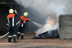 nya brandmän Arkivbilder