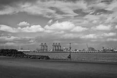 Nya Brighton och Liverpool skeppsdockor Royaltyfria Foton