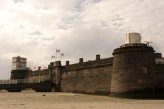 Nya Brighton Perch Rock Fort Arkivfoton