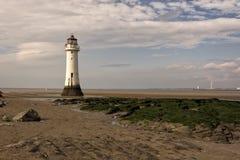 Nya Brighton Perch Rock Lighthouse arkivbilder