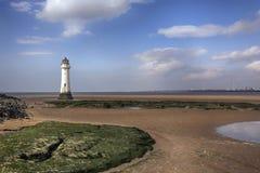 Nya Brighton Perch Rock Lighthouse royaltyfria foton