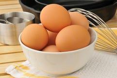 Nya bruna ägg Arkivfoto