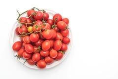 Nya Cherrytomater på vit bakgrund Royaltyfri Foto
