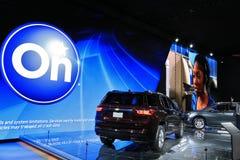 Nya Chevy Onstar 2018 på skärm på norden - amerikansk internationell auto show Arkivfoto