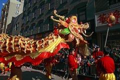 nya chinatown ståtar år Arkivbilder