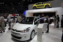 Nya Citroen C3 på den auto mobila internationalen Arkivfoton