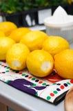 nya citroner Arkivfoto