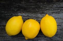 Nya citroner Arkivbild