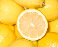 nya citroner Arkivfoton