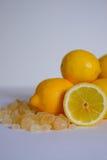 Nya citroner med sockerrottingen Royaltyfri Bild