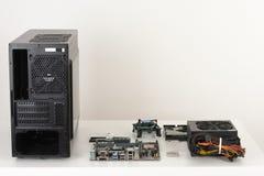 Nya delar, maskinvara för byggande av skrivbords- PC Royaltyfri Bild
