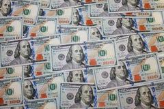Nya dollar bakgrund arkivfoto