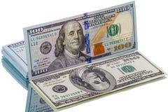 Nya dollar och gammal dollar för abstrakt reflexion Fotografering för Bildbyråer