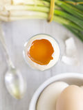 Ekologiska ägg. Arkivbild