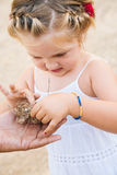 Nya erfarenheter för liten flicka royaltyfri fotografi