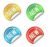 nya etiketter Arkivfoton