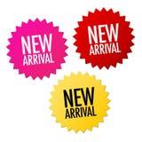 nya etiketter för ankomst stock illustrationer