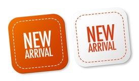 nya etiketter för ankomst Royaltyfri Fotografi